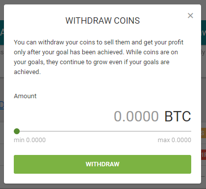How to withdraw money from my goals? – Cointree